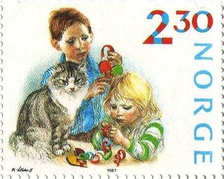 1987: Os Bosques marcam presença nos selos de natal